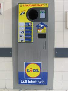 Máquina de Pfand no supermercado Lidl.